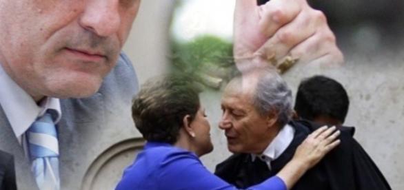 Presidente do STF e Dilma Rousseff - Foto/Montagem