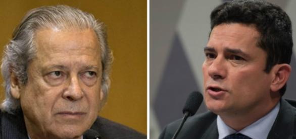 Ex-ministro José Dirceu e juiz federal Sérgio Moro