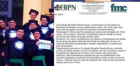 FMC emitiu nota oficial sobre manifestação de alunos à favor de Bolsonaro