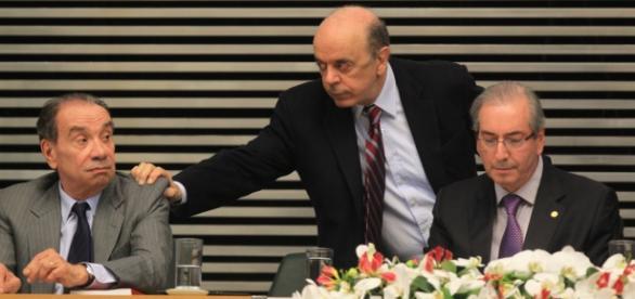 José Serra e Eduardo Cunha juntos