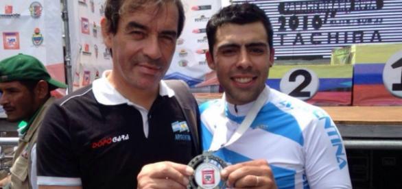 Laureano Rosas logró la medalla de plata en la prueba contrarreloj élite individual en el Panamericano de ciclismo de ruta