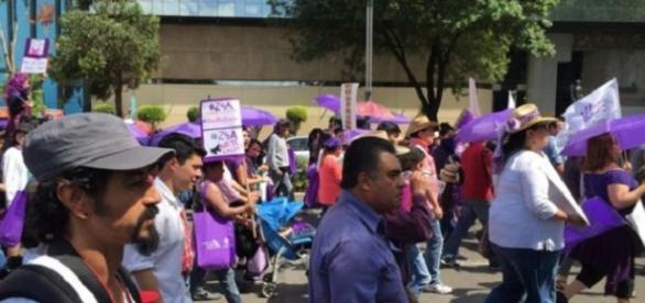Manifestacion contra la violencia de jenero