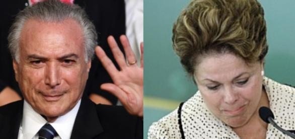 Michel Temer e Dilma Rousseff - Foto/Montagem