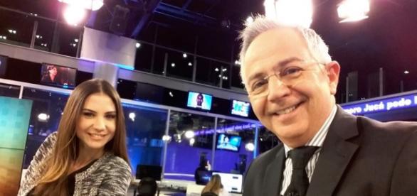 Sérgio Cursino e Amanda Klein (Divulgação: Rede TV!)