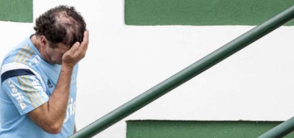 Técnico Cuca na Academia de Futebol (Foto: Cesar Greco/Ag Palmeiras)