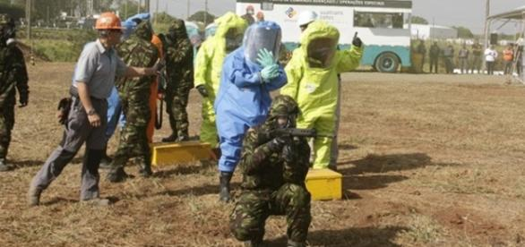 Treinamento de bombeiros e fuzileiros teve resultado avaliado como positivo