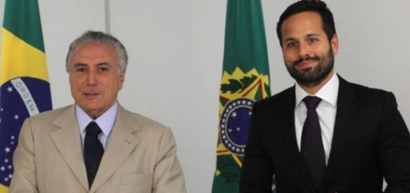 Givaldo Barbosa / Agência O Globo - Michel Temer e Marcelo Calero