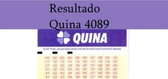 Resultado do jogo da Quina 4089