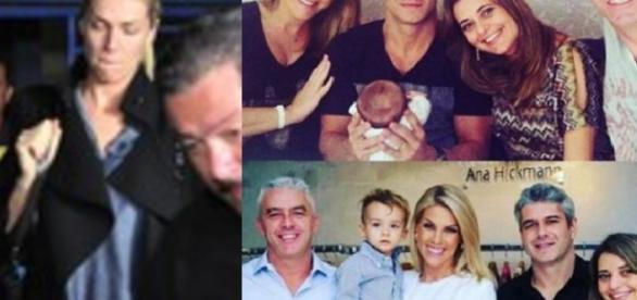 Ana Hickmann e família antes de atentado