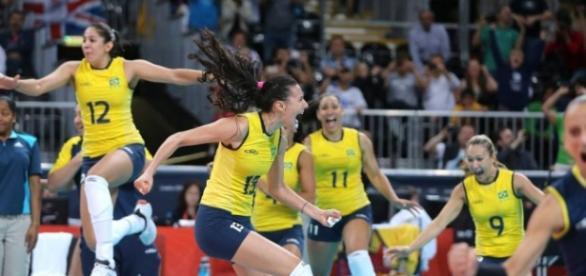 Jogadoras da seleção feminina de voleibol