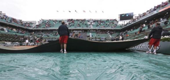 La lluvia empañó el arranque de Roland Garros