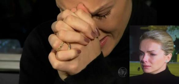 Ana Hickmann chora ao dar entrevista