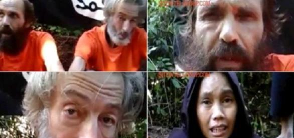 Ei sunt cei trei ostateci ai grupului terorist filipinez Abu Sayyaf