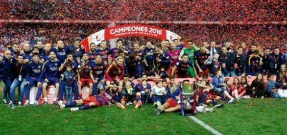 F.C. Barcelona, campeón de la Copa del Rey 2016.