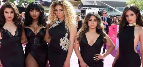 Fifth Harmony, que posou no tapete vermelho de forma espetacular