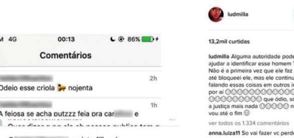 Pedido de ajuda feito por Ludmilla (Reprodução/Instagram)