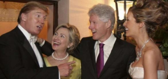 I tempi in cui Donald Trump 'filava' con la famiglia Clinton
