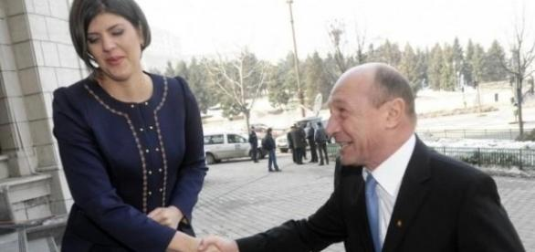 Laura Codruţa Kovesi şi Traian Băsescu