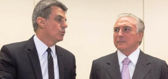 Romero Jucá e Michel Temer - Foto/Reprodução