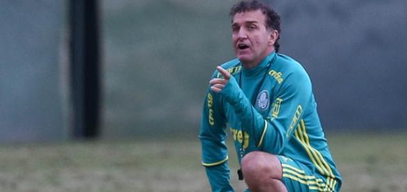 Técnico Cuca na Academia de Futebol do Palmeiras (Foto: Cesar Greco/Ag Palmeiras/Divulgação)