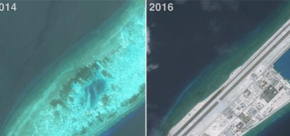 Transformare uimitoare a unei insule din Marea Chinei de Sud revendicată de China