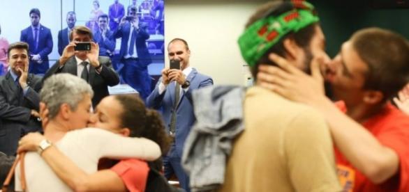 Beijaço aconteceu na Câmara dos Deputados (Lula Marques/Agência PT )