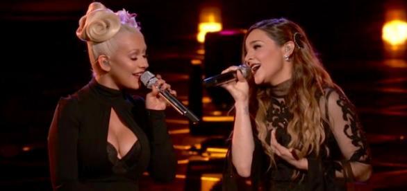 Christina Aguilera e sua candidata