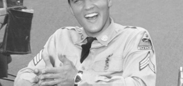 Elvis Presley wearing an original Hamilton Ventura