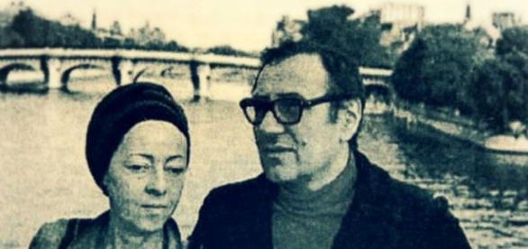 Irinel Liciu și Ștefan Augustin Doinaș la plimbare prin București