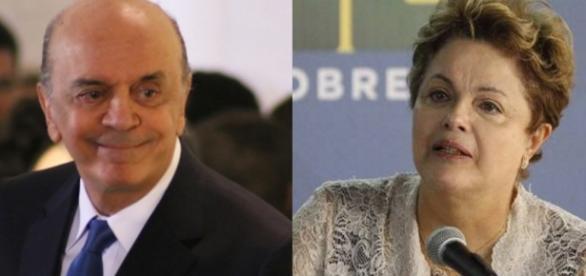 José Serra e Dilma Rousseff - Foto/Montagem