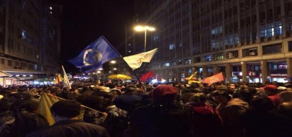 Manifestantes pediram a saída de Temer