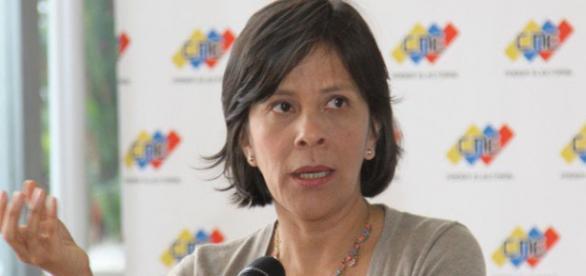 Sandra Oblitas vicepresidenta del Consejo Nacional Electoral