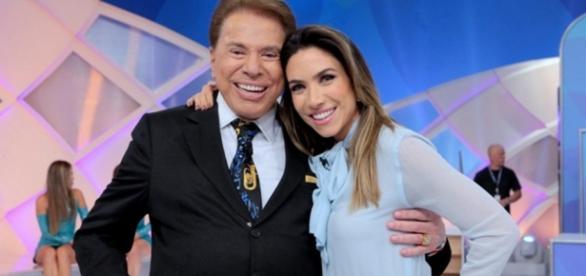 Silvio Santos e Patrícia Abravanel - Imagem/SBT