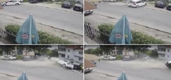Imagini şocante surprinse de o cameră de supraveghere