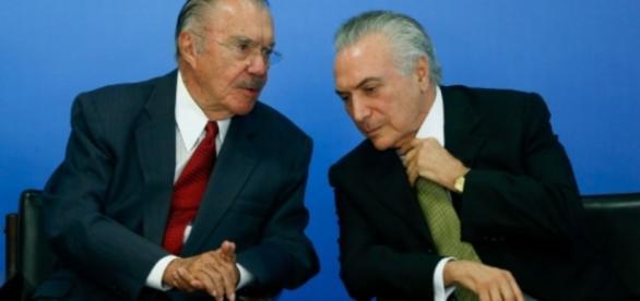 José Sarney e Michel Temer - Imagem/Google