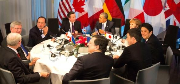 La tavola rotonda del G7 in Giappone
