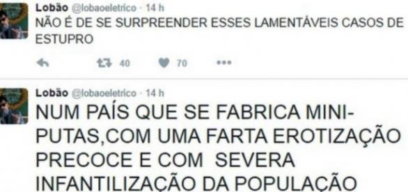Lobão comenta caso de estupro coletivo (Reprodução/Twitter)