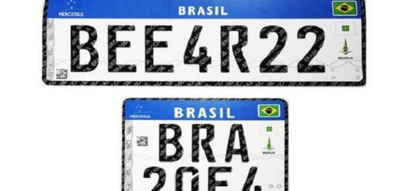 Novas placas para veículos no Brasil, em 2017