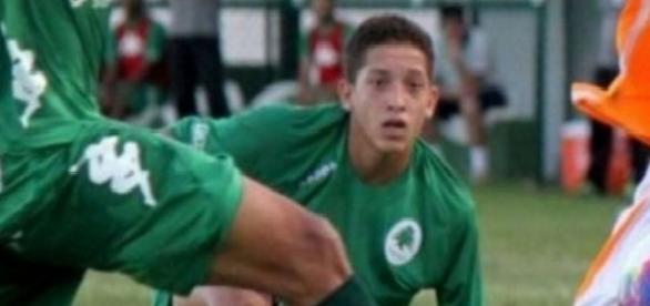 Lucas Perdomo Duarte Santos, de 20 anos, jogador do Boavista (Foto: Reprodução Internet)