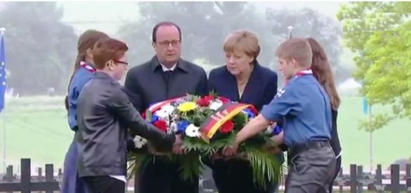 Merkel y Hollande se unen en Verdún Afp
