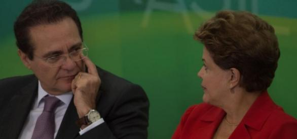 Renan Calheiros e Dilma Rousseff - Foto/Montagem