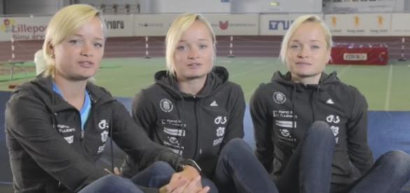Trigêmeas estonianas participarão das Olimpíadas do Rio