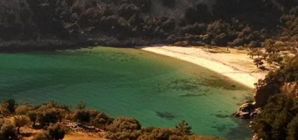 A ilha verde de Thassos na Grécia