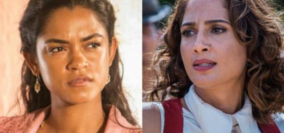 Camila Pitanga e Lucy Alves na novela 'Velho Chico'