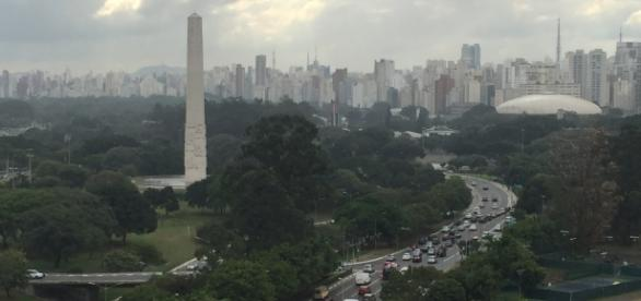 Vista do Parque do Ibirapuera do alto do prédio do Museu de Arte Contemporânea