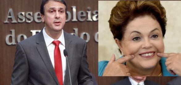 Governador do Ceará e presidente Dilma