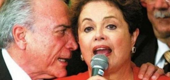 Michel Temer e Dilma - Imagem do Google