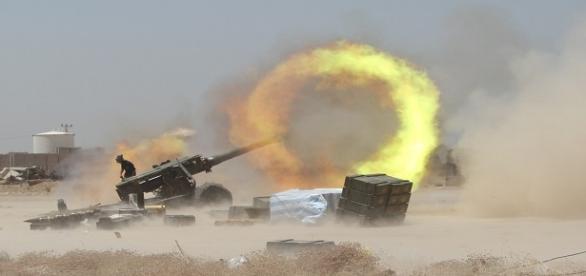 Fotografía de combatientes iraquíes