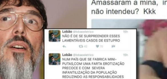 Lobão dá sua opinião sobre o estupro coletivo nas redes sociais.