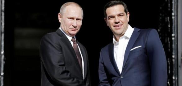 Putin e Tsipras na Grécia, assinam vários acordos econômicos entre os 2 países